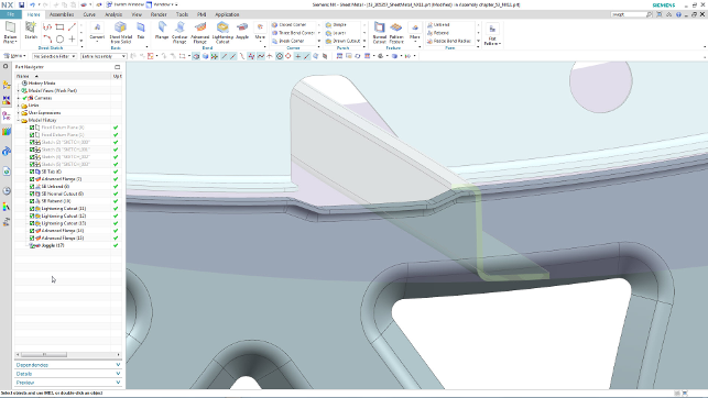 Siemens NX 11 Advanced Sheetmetal Aero