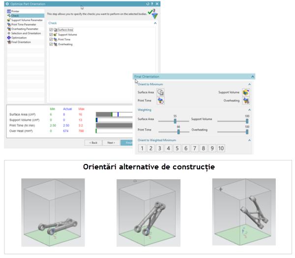 optimizarea orientarii reperelor in nx pentru fabricatie aditiva