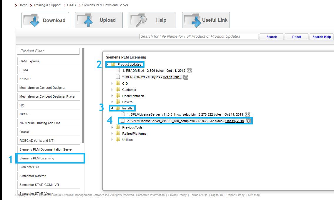 gtac-plm-license-server